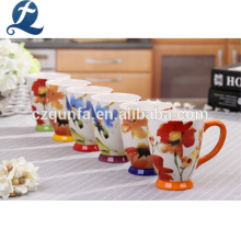 Custom Printed Pattern Ceramic Mug With Handle