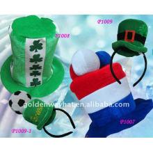 2012 Мода Взрослый зеленый войлочная шляпа