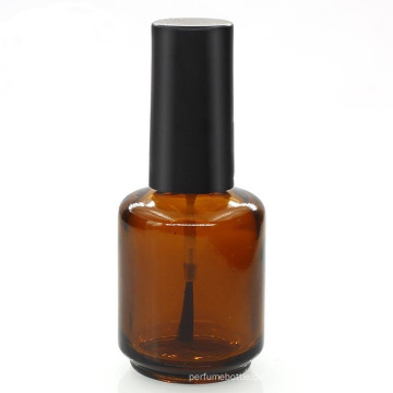 anpassbare 5 ml 8 ml 10 ml 15 ml bernsteinfarbenen Nagellack Glasflasche