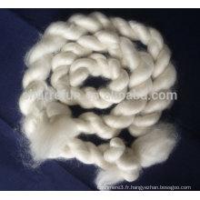 100% pure fibre de cachemire blanc épilé dessus 16.5mic 46mm