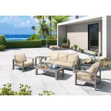 Muebles de patio de ocio conjunto de sofás al aire libre