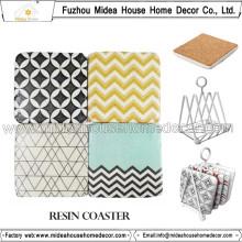 Coasters exclusifs en résine artisanale Custom