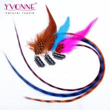 Extension de cheveux de plume, pince synthétique dans l'extension de cheveux