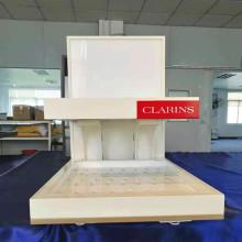 Estante de exhibición cosmético del estante de exhibición del estante de acrílico de madera