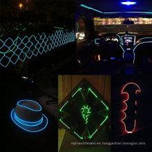 Hermoso juego de cables El-Wire, lámpara de neón multicolor con paquete de luz de alambre electroluminescente fluorescente Neon Strobing