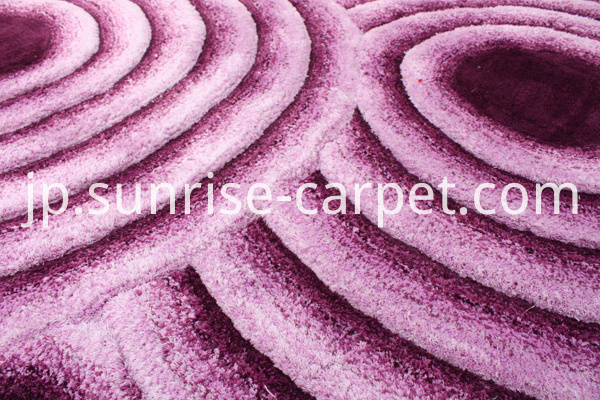 Microfiber Shaggy 3D Rug Purple Color