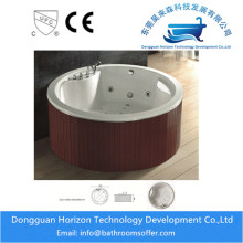 Big discounting for specially designed massage tub Round jacuzzi spa tub jacuzzi bathtub export to Portugal Exporter