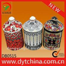 Titulares de la taza de vela de cerámica blanca al por mayor directo de fábrica