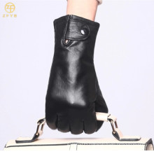 2016 Tight thin Black Women Leather Fashion Hand Glove