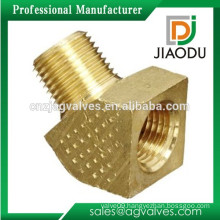 "Forging natural brass color 1/4"" or 1/2"" or 3/4"" npt female to male thread brass 45-degree street elbow connector"