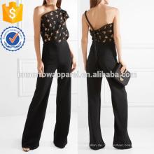 Ein-Schulter Fil Coupe Cloque und Cady Jumpsuit Herstellung Großhandel Mode Frauen Bekleidung (TA30010J)