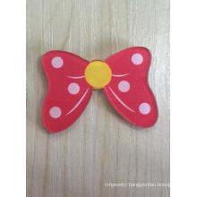 Lovely Rose Red Bow Brooch