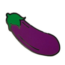 Fun Trendy Peach Eggplant Splash Enamel Pin Set