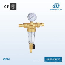 Pressure-Reduced Valve Water Pre Filter 1/2′′ Inch with Manometer