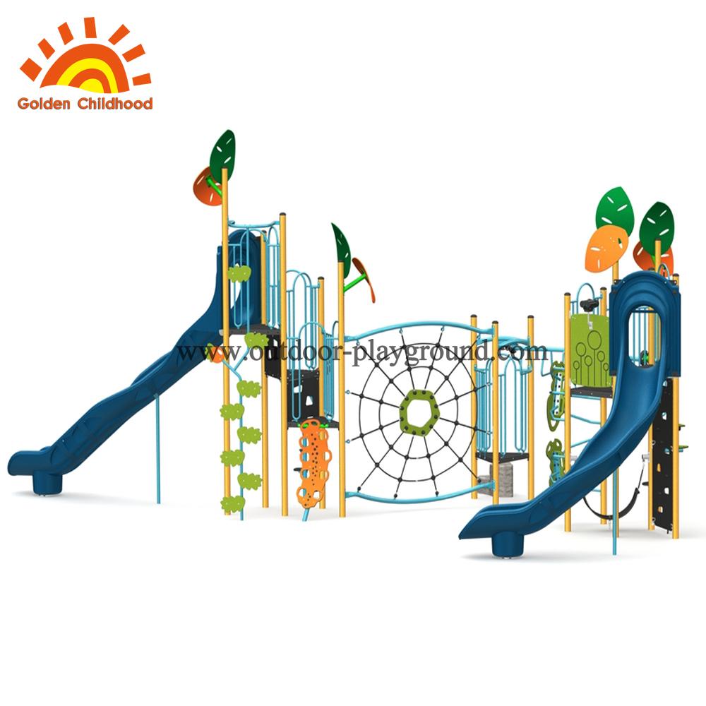 outdoor playground climb net