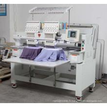 Machine de broderie d'ordinateur 2 têtes 12 couleurs machine de broderie de T-shirt