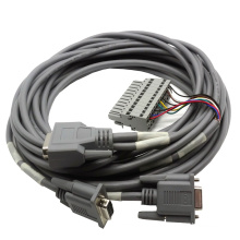 15-контактный разъем сборки кабеля dsub с с терминальный блок