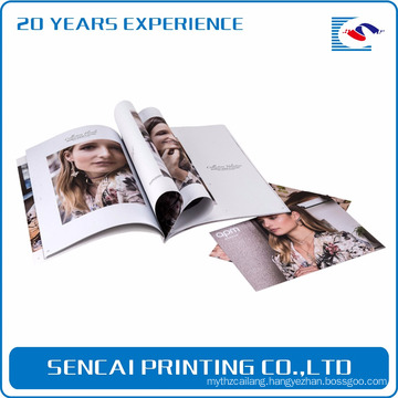 Sencai new products fashion style magazine gloss lamination printing