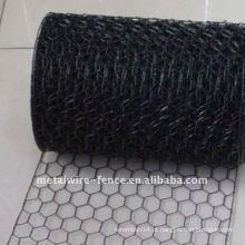 PVC revestido Rede de malha de arame hexagonal