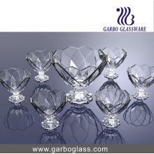 7 PCS Ice Cream Bowl Set Glassware
