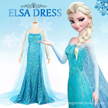 cosplay costume for adult lady frozen elsa princess dress