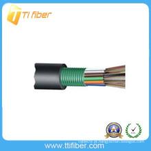 96 núcleo GYTS Stranded cabo solto de fibra óptica ao ar livre do tubo