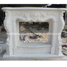 Cheminée en pierre naturelle avec marbre à bas prix (SY-MF211)