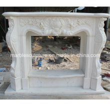 Natural Stone Marble Fireplace with Low Price (SY-MF211)
