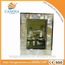 Marcos de oro plateados plata de la madre-perla de lujo de la foto
