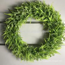 Beatiful round shape artificial leaves hanging wreath for home decor