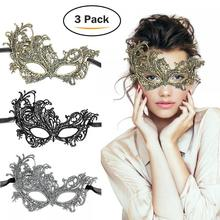 TreatMe 3 Pack Masque de mascarade vénitienne pour femmes