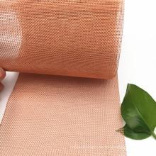 14 30 40 50 60 Mesh Mesh Tejido de malla de cobre rojo tejido utilizado para la prueba de sonido