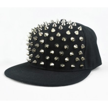 Punk style black rivet hat fashion snapback cap