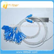 0,9 mm Mini Fibre Optique PLC Splitter 2x32