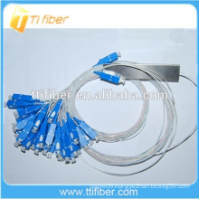 0.9mm Mini Fiber Optic PLC Splitter 2x32
