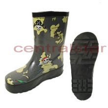 Hot Fashion Cool Skull Head Rubber Rain Boots (LRB006)
