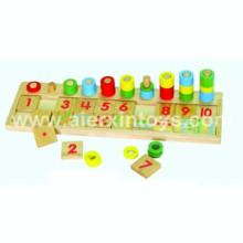 Contagem de madeira & jogo brinquedo número (81410)