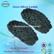 Areia refratária de carboneto de silício verde com boa resistência ao desgaste