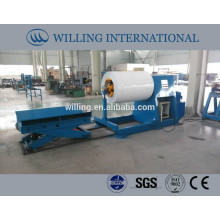 hydraulic steel coil uncoiler with coil car