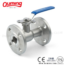 1 PC Mounting Pad Ball Valve with Flange End