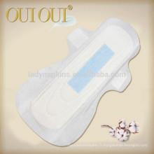 OEM marque ultra mince cotonneux différents types de serviettes hygiéniques