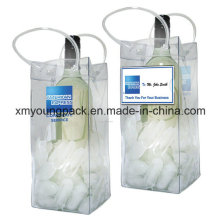 Promotional Portable Plastic PVC Ice Bag Beer Bottle Holder