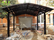 white metal frame double car canopy with polycarbonate sheet,canopy carport,collapsible carport
