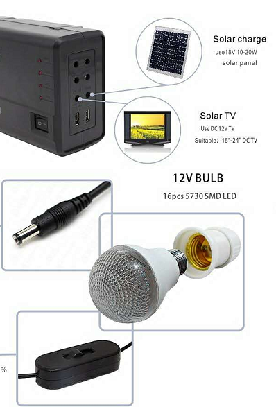 solar kit with LiFePO4 battery