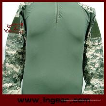 Militar camuflaje uniforme táctico camisa impermeable traje de rana