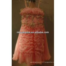 NW-343 2013 Lovely Organza avec Beadings Flower Girl Dress