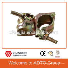 For africa Hot Dip Galvanized,( 54662238,Silver colour and Gold colour)scaffolding double coupler used in construcion