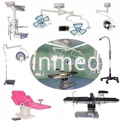 Operating tables and operating lamps
