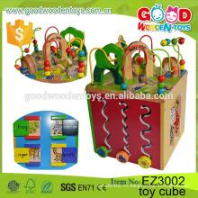 Четыре Стороны Обучающая деревянная кубическая коробка Игра Детский сад Деятельность Игровой центр Baby Toy Cube