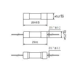 Fusible de tubo de vidrio 5 * 20 Capacidad de ruptura nominal 150A Rt1-20 (E)